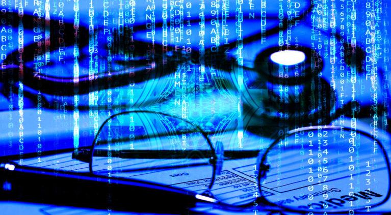 Medical Digital enterprise matrix style background