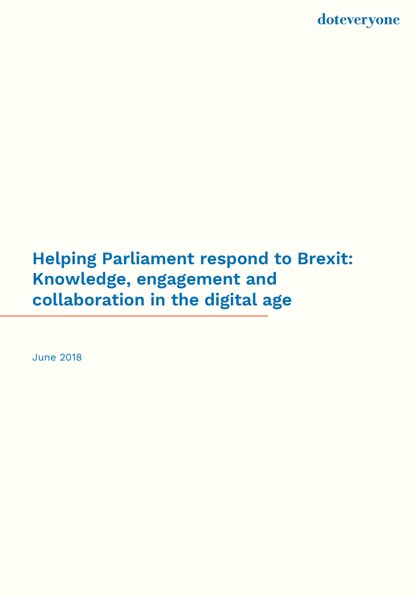 Helping Parliament respond to Brexit report cover