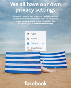 Facebook privacy ad